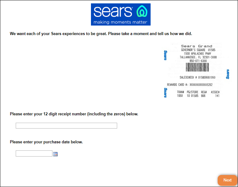 Sears Home Services Customer Satisfaction Survey