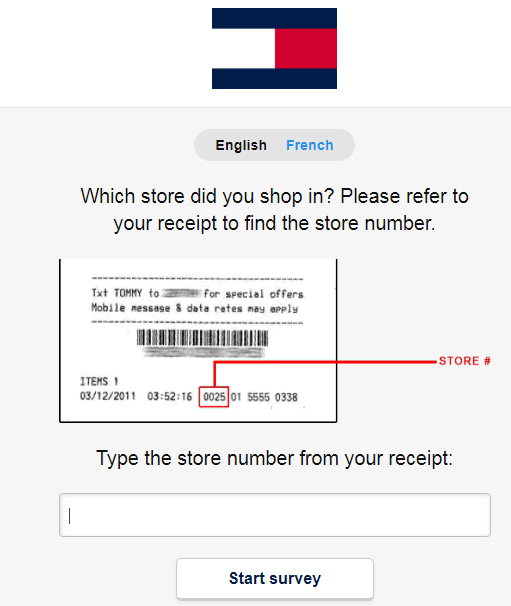 Tommy Hilfiger Customer Experience Survey