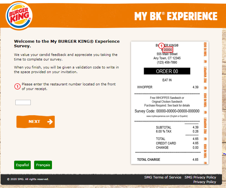Burger King Customer Experience Survey 2020