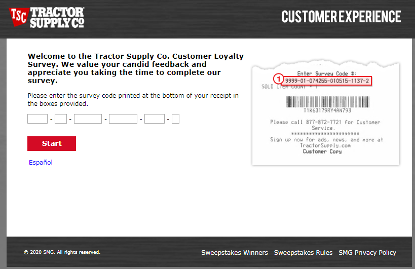 Tractor Supply Customer Feedback Survey 2020