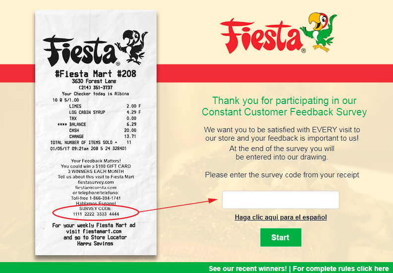 Fiesta Mart Constant Customer Feedback Survey