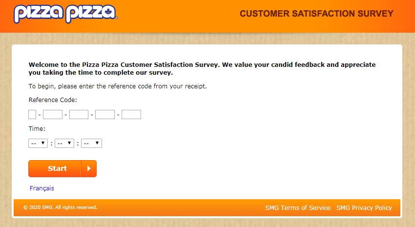 Pizza Pizza Guest Experience Survey
