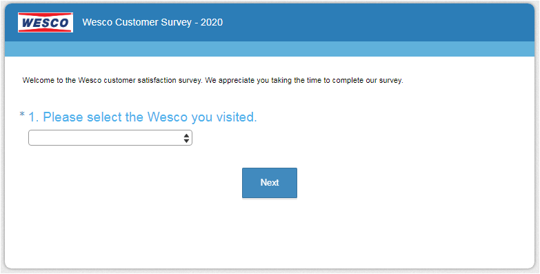 Wesco Guest Experience Survey