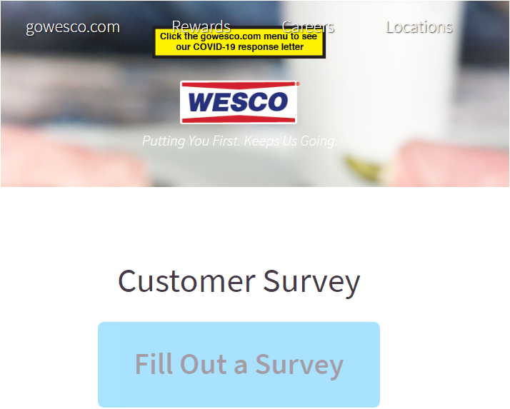 Wesco Guest Satisfaction Survey